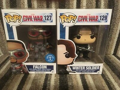 Captain America Civil War Pop Vinyls