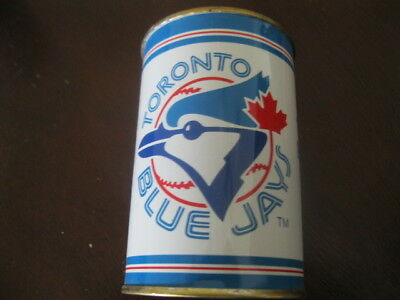 MLB Vintage Toronto Blue Jays Tin Bank Joe Carter 1980s Antique Can Baseball