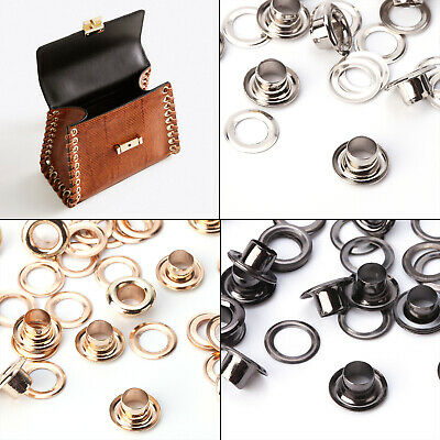 100pcs Chrome Coated Eyelets Grommet Rust Proof Brass Based DIY Clothing Crafts