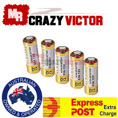 5x 23A 21/23 A23 23A 23GA 23AE 12V Alkaline Battery for Garage Car Remote Alarm