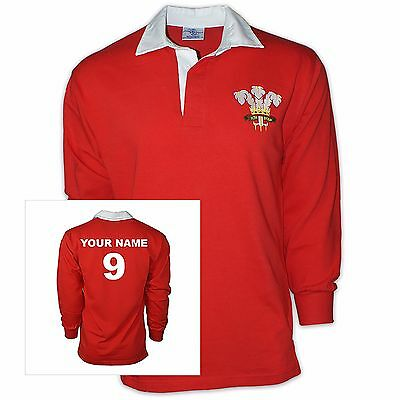 Wales Welsh Six Nations Rugby Football Shirt - Adult Kids + Free Personalization