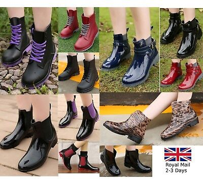 New Fashion Ladies Women Wellington Boots Rain Snow Waterproof Festival Wellies
