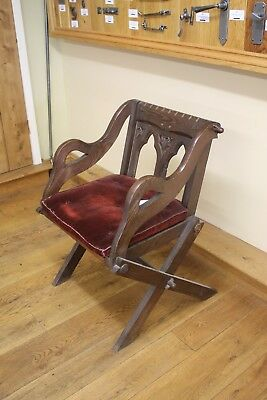 Reclaimed Antique Gothic Style Chair - Dark Oak