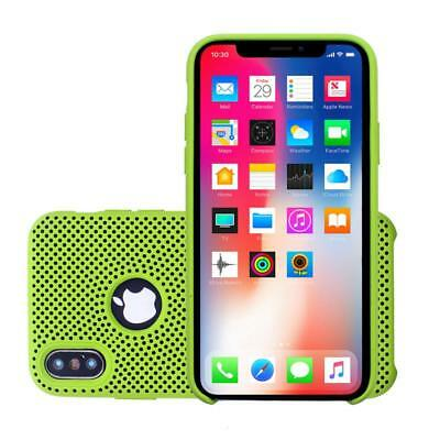 iProtect Apple iPhone X Protective Case - made of liquid silicone in green/black
