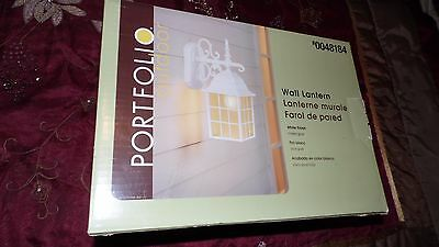 Portfolio Outdoor Wall Lantern Light White Victorian Cottage Look New In Box