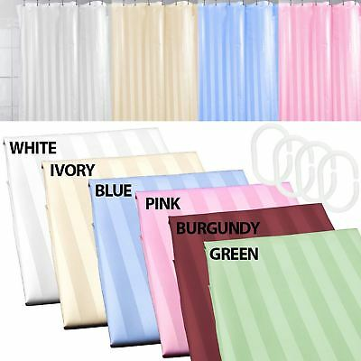 Luxury Shower Curtain Stripe Extra Wide Extra Long With Hooks Ring Waterproof