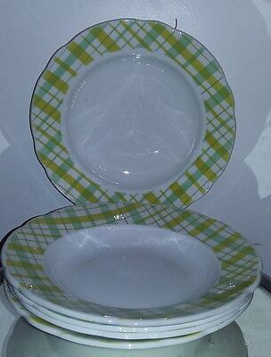 lot de 5 assiettes creuses badonviller FB