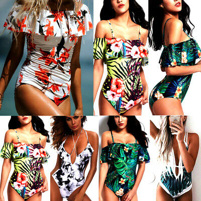 Women Monokini Bandage One Piece Bikini Ladies Swimsuit Swimwear Bathing Suit CA