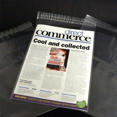 """100 9x12"""" Comic Magazine Bags Sleeves Protective Dust Cover Self Seal Reusable"""