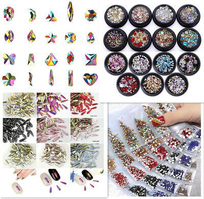 50 pcs Small Shape Top Crystal AB Czech Crystal Rhinestone Flatback Nail Art #03