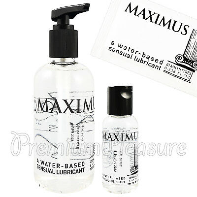 MAXIMUS lubricant Water based lube Personal glide Intimate gel 10ml 50ml 250ml