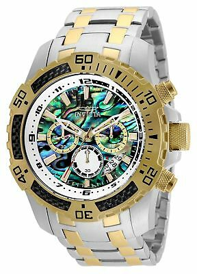 Invicta Pro Diver 51mm Quartz Chrono Rainbow Dial SS Two-Tone Men's Watch 25093