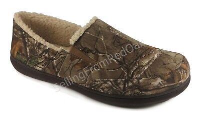MENS REALTREE CAMOUFLAGE HOUSE SHOES SLIPPERS MOCCASIN STYLE SIZE 11 or 13 ~ NEW