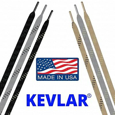 KEVLAR FLAT Shoelace Lace Strings - Heat & Chemical Resistant! - Made in USA!