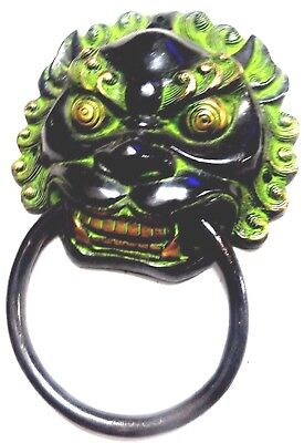 Angry Man Face Shape Antique Vintage Style Handmade Brass Door Knocker Knob