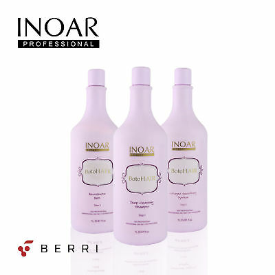 Inoar Professional BotoHAIR SET 3l or  1L Step 1  Step 2  Step 3 - *UK SELLER*