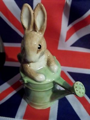 Bp10A Peter Rabbit In Watering Can Figurine Beatrix Potter Royal Doulton  M.i.b.