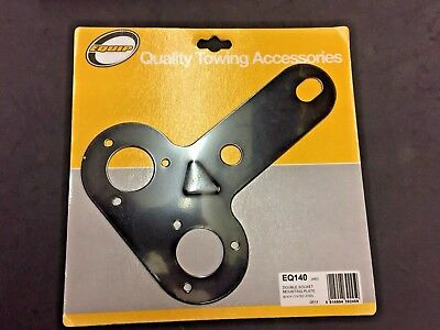 Double Socket Mounting Plate - Black Coated Steel - Equip EQ140