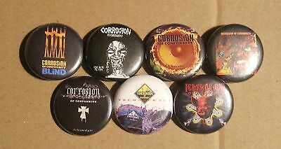 Corrosion Of Conformity Rare 7 Pin Promotional Set