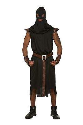 Mens Adult Executioner Medieval Dungeon Master Fancy Dress Halloween Costume