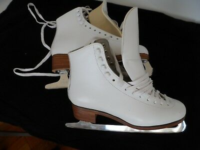 New Women Ice Figure Skates, Size 5 1/2, Sabina Blades, With Defects