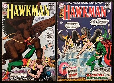 Hawkman #6 & #9 (1965, DC) Low Grade Reader Copies