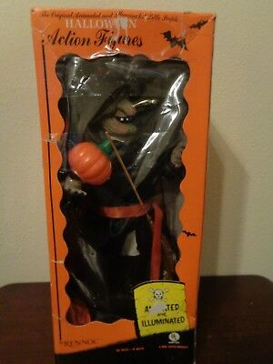 """Rennoc Halloween Witch Animated Lighted 21"""" Motion-ettes Figurine Work WB"""