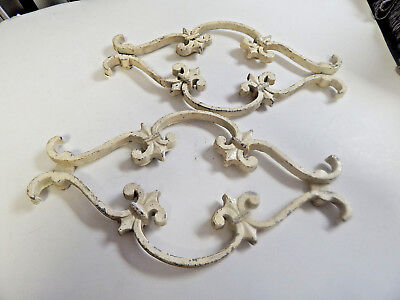Vintage Antique Architectural Pediment Cast Iron Bracket Garden Rustic Shelf