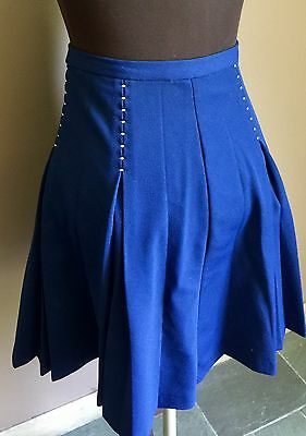 Vintage Montgomery Ward Polyester Double Knit Pleated Zoot Swing Skirt USA S/m