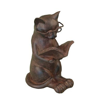 Young's Resin Cat Reading Figurine 4.75-Inch