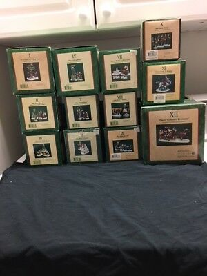 Dept. 56 complete set of 12 days of Christmas in original boxes.