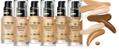 Max Factor Miracle Match Foundation Blur & Nourish in Various Shades - Sealed