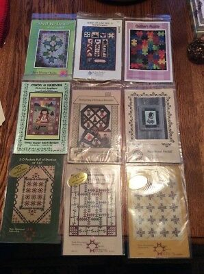 9 Quilting Patterns Wallhangings Bookmarks Lapquilt