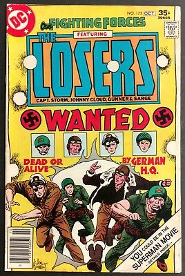 Our Fighting Forces #175 1977 Solid Fn Looks Better The New Losers Kubert Cover
