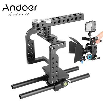 Andoer Camera Video Cage Rig Stabilizer + Top Handle Grip for Panasonic GH5 GH4