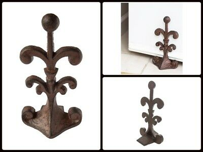 Cast Iron Door Stop Old Vintage Antique Design Doorstop Decorative Stopper Wedge