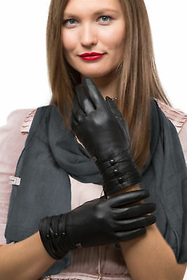 Fashion Sheepskin Leather Gloves For Women, Cold Weather TouchScreen