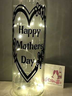 Diy Wine Bottle Vinyl Decal Sticker Happy Mothers Day Diy Gift