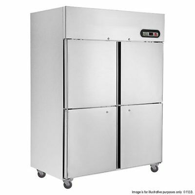 Tecnotherm GN Freezer Upright 1200Lt 4 x 1/2 Stainless Split Doors FED SUF1200
