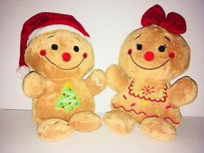 Dan Dee Collectors Choice Gingerbread Man And Lady. Vintage. Rare. Plush.