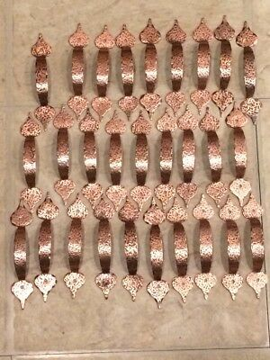 Vintage Cabinet Hardware Copper Hammered Drawer Pulls, Handles & Hinges