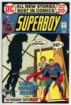 Superboy #189 Nm+ 9.6 Hanging Cover And Panels. Beautiful Copy! 1972