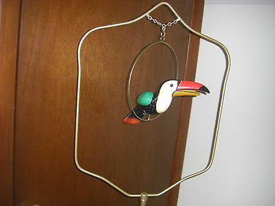 "Old Vintage Metal Bird Cage Stand  67"" Tall"