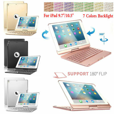 "Backlit Wireless Keyboard 360 Case Cover For iPad 9.7"" 2018/Air 2/1 Pro 10.5 9.7"