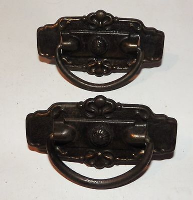Set of 2 Antique ornate Drawer Pulls