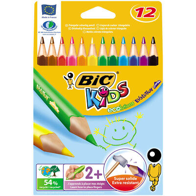 Bic Kids Evolution Triangle Colour Pencils 12 Pack
