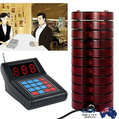 10 Restaurant Coasters Pager Guest Call Wireless Paging Queuing Calling Device