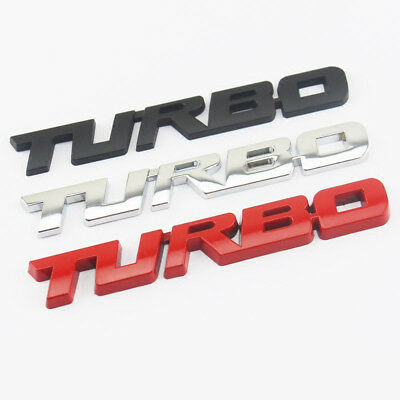 3D Metal Turbo Emblem Badge Universal Car Styling Motorcycle Sticker Decal Logo