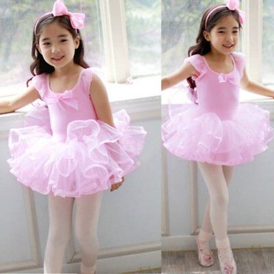 US Baby Girls Ballet Leotard Tutu Dress Toddler Kids TUTU Skirt Dress Dancewear