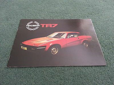 November 1978 TRIUMPH TR7 FIXED HEAD COUPE - UK BROCHURE - PUBLICATION NO.3256/C
